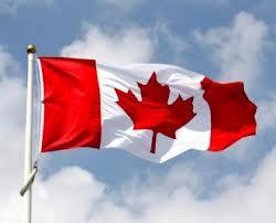 canada flag sky